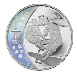 2007 Canada Sterling Silver $25 Coin - Vancouver 2010 Olympic Winter Games: Ice Hockey