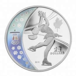 2008 Canada Sterling Silver $25 Coin - Vancouver 2010 Olympic Winter Games: Figure Skating