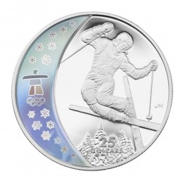 2008 Canada Sterling Silver $25 Coin - Vancouver 2010 Olympic Winter Games: Freestyle Skiing
