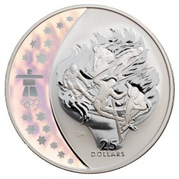2009 Canada Sterling Silver $25 Coin - Vancouver 2010 Olympic Winter Games: Olympic Spirit