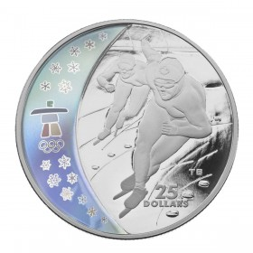 2009 Canada Sterling Silver $25 Coin - Vancouver 2010 Olympic Winter Games: Speed Skating
