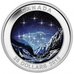2015 Canada Fine Silver 25 Dollar Coin - Star Charts: The Eternal Pursuit