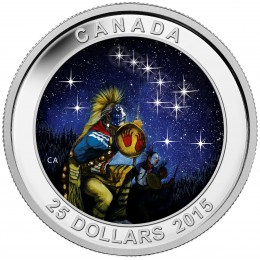 2015 Canadian $25 Star Charts: The Quest - Fine Silver Coin (Glow-in-the-Dark)