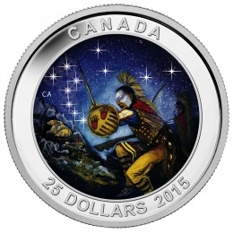 2015 Canada Fine Silver 25 Dollar Coin - Star Charts: The Wounded Bear