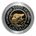 2000 Canadian $2 Polar Bear Knowledge Millennium Proof Gold & Silver Coin