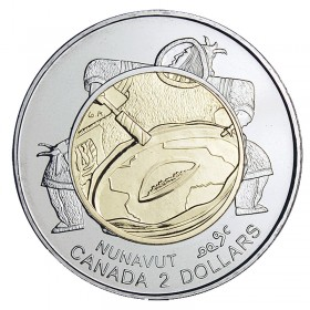 1999 Canadian $2 Nunavut Commemorative Toonie Coin (Brilliant Uncirculated)