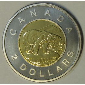 2003 Canadian $2 Polar Bear, Old Effigy (Brilliant Uncirculated)
