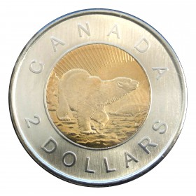 2006 (1996-) Canadian $2 Churchill Polar Bear 10th Anniv Toonie Coin (Brilliant Uncirculated)