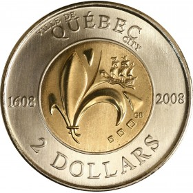 2008 Canadian $2 400th Anniversary of the Founding of Quebec City (Brilliant Uncirculated)