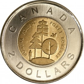 2011 Canadian $2 Boreal Forest (Brilliant Uncirculated)