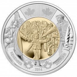 2014 Canadian $2 Wait for Me, Daddy Remembrance Toonie Coin (Brilliant Uncirculated)