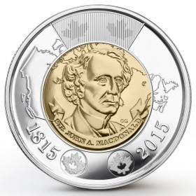2015 Canadian $2 Sir John A. Macdonald (Brilliant Uncirculated)