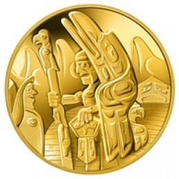 2005 Canada 14-karat Gold $300 Coin - Welcome Figure Totem Pole