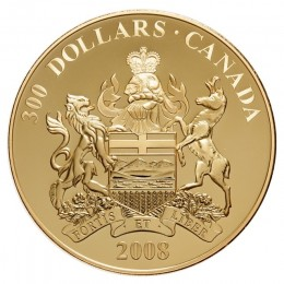 2008 Canada 14-karat Gold $300 Coin - Alberta Coat of Arms