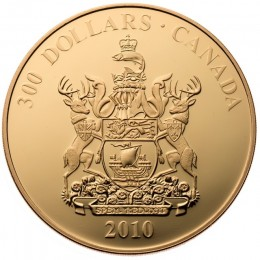 2010 Canada 14-karat Gold $300 Coin - New Brunswick Coat of Arms