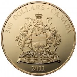 2011 Canada 14-karat Gold $300 Coin - Manitoba Coat of Arms