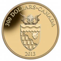 2013 Canada 14-karat Gold $300 Coin - Northwest Territories Coat of Arms