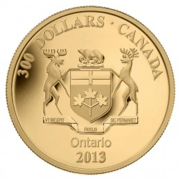 2013 Canada 14-karat Gold $300 Coin - Ontario Coat of Arms