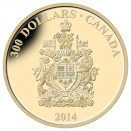 2014 Canada 14-karat Gold $300 Coin - Canadian Coats of Arms