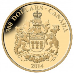 2014 Canada 14-karat Gold $300 Coin - Saskatchewan Coat of Arms