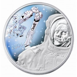 2006 Canada Sterling Silver $30 Coin - Fifth Anniversary of Canadarm