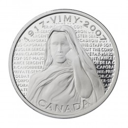 2007 Canada Sterling Silver $30 Coin - Canadian National Vimy Memorial