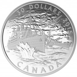2015 Canada Fine Silver $30 Coin - Canada's Merchant Navy in the Battle of the Atlantic