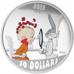 2015 Canadian $30 Looney Tunes™ Classic Scenes: The Rabbit of Seville - 2 oz Fine Silver Coloured Coin