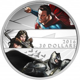 2016 Canada Fine Silver $30 Coin - Batman v Superman: Dawn of Justice™