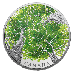 2018 Canadian $30 Canadian Canopy: The Maple Leaf - 2 oz Fine Silver Coin