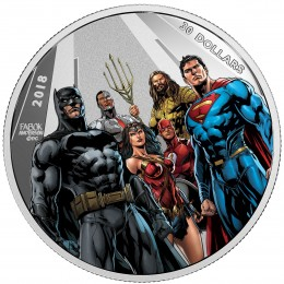 2018 Canadian $30 The Justice League: The World's Greatest Super Heroes - 2 oz Fine Silver Coin