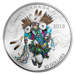 2019 Canadian $30 Fancy Dance - 2 oz Fine Silver Coin