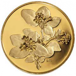 2001 Canada Pure Gold $350 Coin - Nova Scotia Mayflower