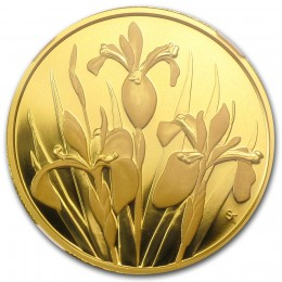 2006 Canada Pure Gold $350 Coin - Iris Versicolor