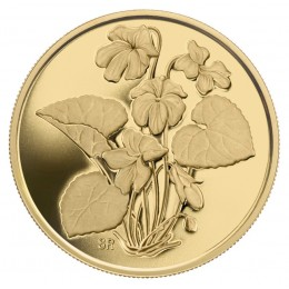 2007 Canada Pure Gold $350 Coin - Purple Violet