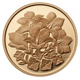 2008 Canadian $350 Provincial Flowers: Nunavut Purple Saxifrage 99.999% Pure Gold Coin