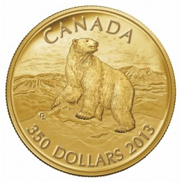 2013 Canada Pure Gold $350 Coin - Iconic Polar Bear