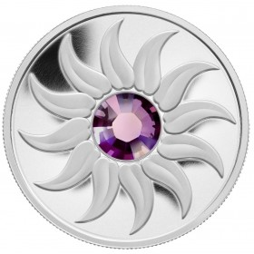 2011 Canada Fine Silver $3 Coin - Birthstone Collection: February, Amethyst