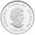 2011 Canada Fine Silver $3 Coin - Birthstone Collection: May, Emerald