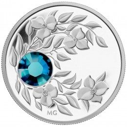 2012 Canada Fine Silver $3 Coin - Birthstone Collection: December, Zircon