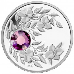 2012 Canada Fine Silver $3 Coin - Birthstone Collection: February, Amethyst