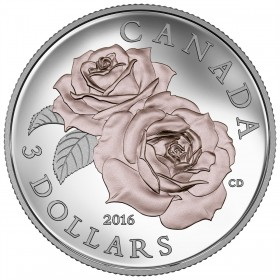 2016 Canadian $3 Queen Elizabeth Rose - Fine Silver & Gold-plated Coin