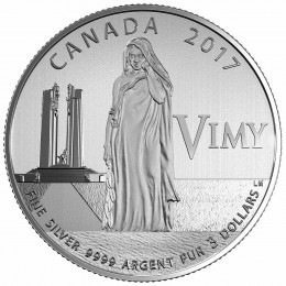 2017 Canadian $3 100th Anniversary of the Battle of Vimy Ridge  - Fine Silver Coin