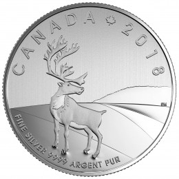 2018 Canadian $3 Caribou - 1/4 oz Fine Silver Coin