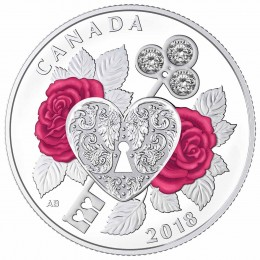 2018 Canadian $3 Celebration of Love - Fine Silver Coin