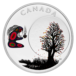 2018 Canadian $3 Thirteen Teachings From Grandmother Moon: Falling Leaves Moon Fine Silver Coin