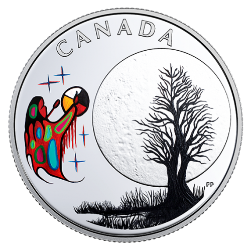 2018 Canadian $3 Thirteen Teachings From Grandmother Moon: Freezing Moon - Fine Silver Coin