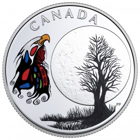2018 Canadian $3 Thirteen Teachings From Grandmother Moon: Spirit Moon - Fine Silver Coin