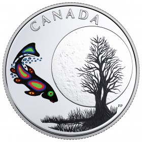 2018 Canadian $3 Thirteen Teachings From Grandmother Moon: Sucker Moon - Fine Silver Coin
