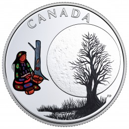 2018 Canadian $3 Thirteen Teachings From Grandmother Moon: Sugar Moon - Fine Silver Coin